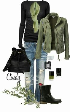 Love the shade of green with black
