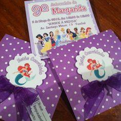Convites Princesas Disney - Disney Princess Invitation