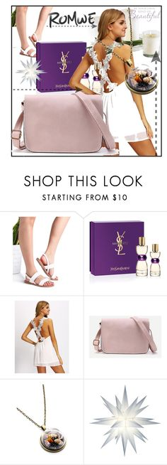 """""""ROMWE#1"""" by sabahetasaric ❤ liked on Polyvore featuring Yves Saint Laurent"""