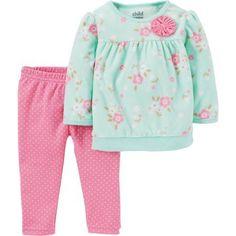cdbdcf8f8f717 Child of Mine by Carter's - Newborn Baby Girl Pant Set-2 Pieces - Walmart .com