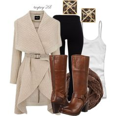"""""""neutrals & leopard"""" by taytay-268 on Polyvore"""