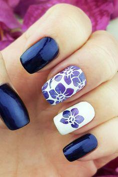 $5 - Orchids Nail Art Stencils - incredible nail art vinyls by Unail #ad #nails #nailart #naildesigns #bluenails #springnails #flowernails #nailstencils #orchids #professionalpinner