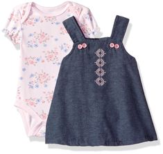 Rene Rofe Baby Baby Girls 2 Pc Chambray Button Strap Jumper Set with Bodysuit Chambray Pink Patchwork Garden 69 Months *** Check out the image link more information. (This is an affiliate link). Baby Baby, Baby Girls, Baby Jumper, Chambray, Image Link, Bodysuit, Buttons, Check, Garden