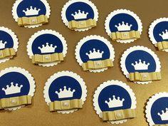 Para decoração da festa realeza, lindas tags coroa para aplicação em latinhas mint to be, em tubetes, garrafinhas, caixinhas, etc.