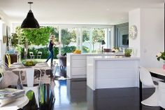 Open plan New Zealand living and kitchen. via Living With Kids: Kate Oppenhuis