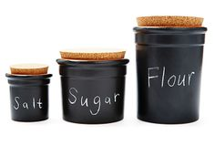 Loving these chalk canisters for an easy fall update for the kitchen!