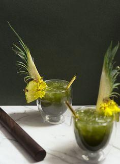 Gastronomista: Coconut Shiso Matcha Julep