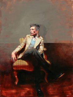 Michael Carson, Blue, oil on canvas, 40 x L'art Du Portrait, Portraits, Figure Painting, Painting & Drawing, Illustrations, Illustration Art, Figurative Art, Minneapolis, American Art
