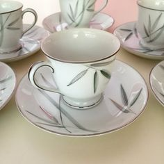Noritake Demitasse Cups And Saucers Vintage by PastClassics