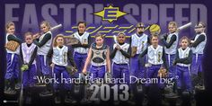 We had the opportunity to meet and watch the Easton Speed '02, a very talented group of girls with some great coaching and super parents, at Turf Wars a few weeks ago. We were also honored to provide them with a really cool custom softball banner of the whole team in their team colors and with their logo.