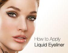 Learn how to apply liquid eyeliner.
