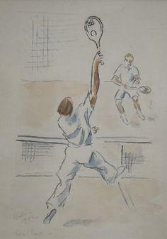 Tennis Players, 1942, unknown artist