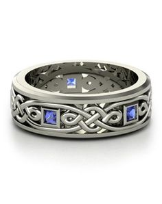 Celtic Wedding Rings and tying the Knot Celtic Knot Ring, Celtic Rings, Celtic Wedding Rings, Diamond Wedding Rings, Celtic Knots, Wedding Band, Blue Wedding, Bling Bling, Cool Winter