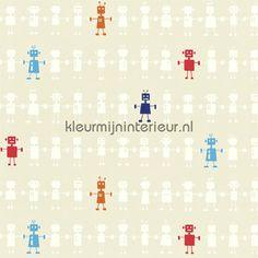 REGGIE ROBOT neutral gordijnstof behang 120230, All about me van Harlequin