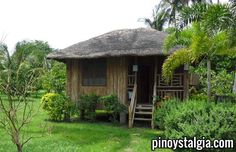 Native Beach House Design In The Philippines Bamboo House Design, Simple House Design, Bahay Kubo Design Philippines, Filipino Architecture, Filipino House, Small Cottage Designs, Hut House, Tiny House, Beautiful Small Homes