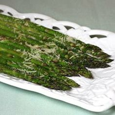 Roasted Asparagus with Parmesan Recipe - a delicious, healthy way to eat asparagus and not get many extra, unnecessary calories. #myplate
