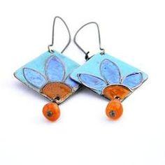 Enamel earrings - Iris by Boroka Halasz http://www.h-art.com.au/#!earrings/cu9g