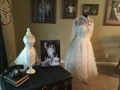 1957 Ballerina Length Wedding Gown