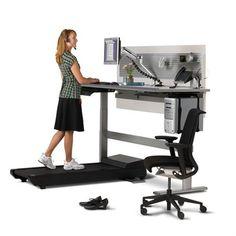 If standing desks are trending is the treadmill desk the next step? Treadmill Desk - Sit-to-Walkstation by Steelcase Bureau Design, Geek Desk, Table Camping, Treadmill Desk, Good Treadmills, Computer Workstation, Computer Station, Canapé Design, Design Room