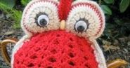 OWL TEA COZY   MEASUREMENTS Height (approx, excl eyes): 17 cm MATERIALS: Family 8-Ply Pure New wool, 25g balls: main co...