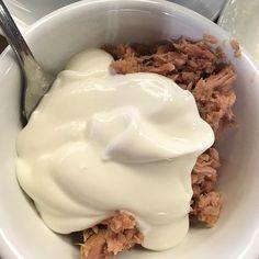 We kregen een tip van onze #vegan friends: vis woensdag met yoghurt #food #foodporn #healthy #fitgirl