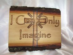 Christian inspirational sign wood burned by hand  by SepiaTree