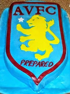 Out of all the cakes i have made this was by far the most complex for me personally, mainly because i hand cut the lion and it was very awk. Aston Villa, Cake Creations, Tweety, Lion, Cakes, How To Make, Character, Leo, Cake Makers