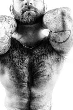 Muscle Bear. Men. Beards. Ink.
