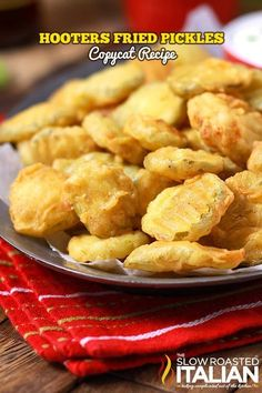Copycat Hooters Fried Pickles  from theslowroasteditalian.com #appetizers  #recipe @SlowRoasted