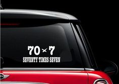 Seventy Times Seven Vinyl Car Decal / Christian Decal / Window Sticker / Religious Decal by StormPass on Etsy