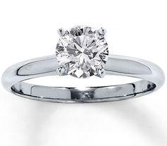 Diamant Ring Solitär mit einem 1.00 Karäter Diamanten in der Reinheit SI1 und der Farbe F gefasst in 585er oder 750er Weißgold günstig bei www.juwelierhausabt.de bestellen.  http://www.juwelierhausabt.de/products/de/Diamantringe/Diamant-Ringe-Solitaer/Diamantring-Solitaer-100-Karat-F-SI1-585er-Weissgold.html