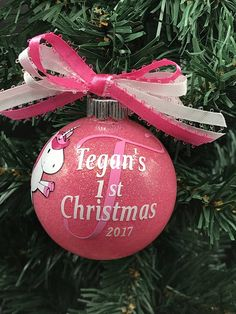 my first christmas personalized ornament possible cnc pinterest