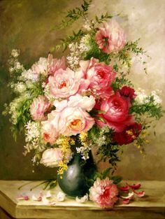 Roses by artist Sergey Minaev.