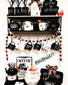 Details about  /HAPPY HALLOWEEN Rae Dunn Inspired Ornament//Magnet//DHM//Wall Decor//Tabletop Art