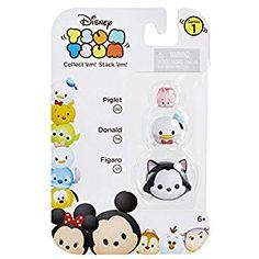 Amazon.com: Tsum Tsum 3-Pack Figures: Figaro/Donald/Piglet: Toys & Games