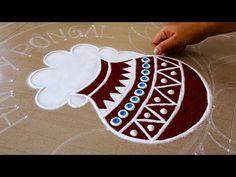 Beautiful Rangoli Design For Sankranthi | Bhogi Kunda Muggu For Sankranthi | Kolam Design For Pongal - YouTube