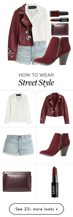 """""""Street Style"""" by kingdieva on Polyvore featuring Brandon Maxwell, STELLA McCARTNEY, Charlotte Russe, Loewe, NYX and Kester Black"""