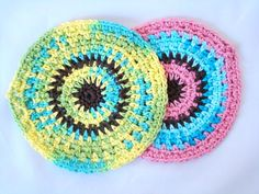 Free Crochet Pattern - Circle Dishcloth