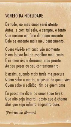 Soneto da Fidelidade - Vinicius de Moraes