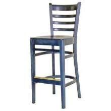 Old Dominion Bistro Beechwood Custom Blue Barstool 16 3/4 inch