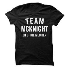 MCKNIGHT TEAM LIFETIME MEMBER FAMILY NAME LASTNAME T-SHIRT