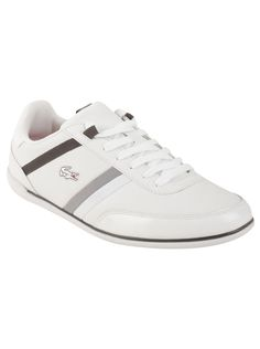 b51d85c8943a74 Lacoste Men s Giron in White Dark Grey Fresh in style and clean in design