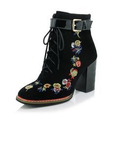 Women's Boots Ankle Boots Chunky Heel Real Leather Shoes (1022836) @ floryday.com
