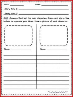 compare and contrast two characters in a movie or book Empowering teachers ©2007 florida center for reading research wwwfcrrorg comprehension instructional routine: compare and contrast two characters in one text.