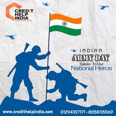 Let us celebrate Day by saluting all the Army men for their dedication, and Credit Help India wishes all Happy Indian Creative Poster Design, Ads Creative, Creative Posters, Independence Day Activities, Happy Independence Day India, Indian Flag Wallpaper, Indian Army Wallpapers, India Poster, Poster On
