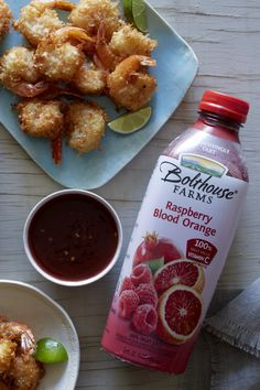 Raspberry Blood Orange Chili Sauce #chilisauce #tangysauce #sweetchili #recipe #shrimp #coconutshrimp #bolthousefarms