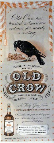 Old Crow Whiskey, 40's Print Ad. Color Illustration 5 1/2... http://www.amazon.com/dp/B00IN5ZP4K/ref=cm_sw_r_pi_dp_KBIuxb1ZMS6CG