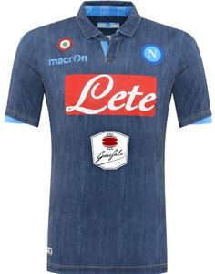 Italian brand Macron today released the new SSC Napoli Away Kit, which features a special denim style. While the new SSC Napoli As Roma, Team Shirts, Soccer Shirts, Football Kits, Football Jerseys, Naples, World Soccer Shop, Shirts