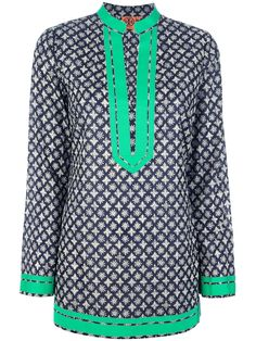 Tory Burch - Blue Patterned Tunic Top - Lyst 1eff8238e0ef