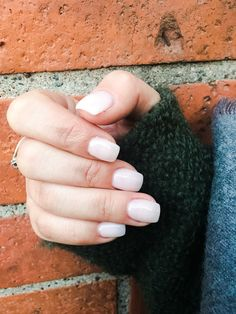 Light pink/ almost white nails ❤️❤️ #nails #lightpink #white #autumnnails